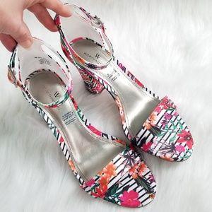💖 NWOB Worthington Floral Strappy Heels